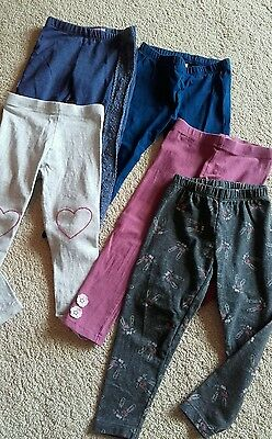 5 pairs girls leggings age 2-3 years