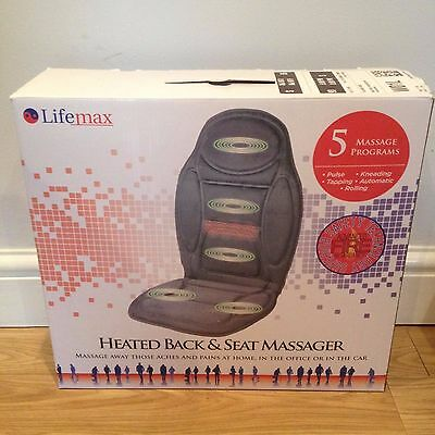 Heated Back and Seat Massager. LifeMax.