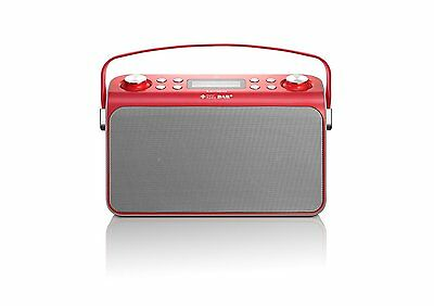 Lenco Lucille rot Bluetooth Lautsprecher Speaker FM USB Radio NFC MP3 DAB+ R9/F5