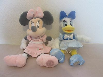 "Disney Store Genuine Authentic 14"" Мinnie Мouse & Daisy Duck Soft Toys Bundle"
