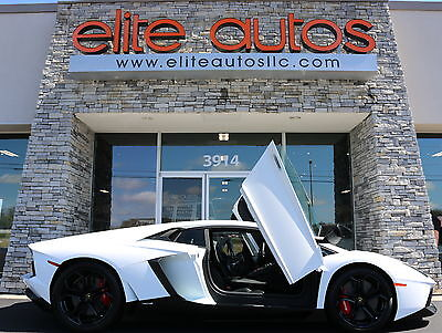 2012 Lamborghini Aventador LP700-4 Coupe 2-Door LAMBO AVENTADOR LP700-4 Coupe CARBON FIBER EXTERIOR and ENGINE BAY Red Brakes