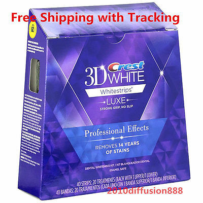 Crest3D Professional Effects Bandes Blanches Blanchiment Dents 40 Strip