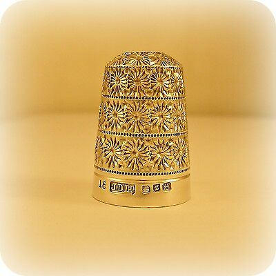 Vintage Silver sewing Thimble, hallmarked 1924 from Birmingham