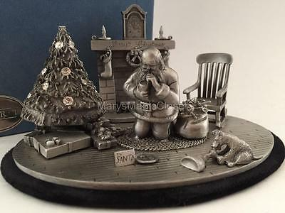"NIB Christmas Classic ""Remembering Santa"" Statue Figurine by FORT PEWTER Rare!"