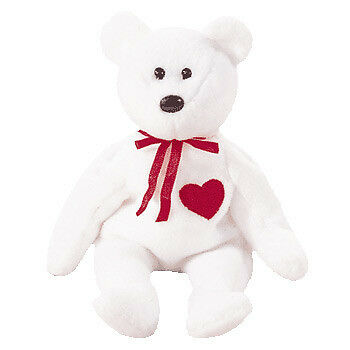 NEW Ty Beanie Babies - Valentino the Bear