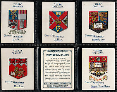 """Wills 1923 Interesting ( Arms ) Full 25 Card Set """" Arms Of Universities """""""