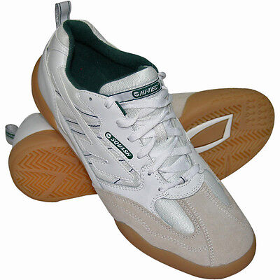Hi-Tec Classic Mens Squash / Badminton / Indoor Court Shoe - White - UK 11