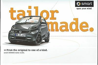 Smart BRABUS Tailor Made UK Market Brochure May 2012 16 Pages Excellent Cond