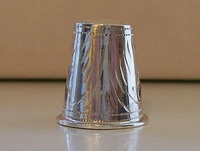 Absolutely Stunning 925 Sterling Silver Thimble