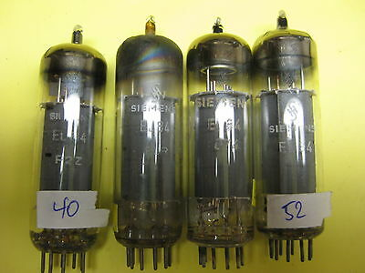 two pairs, 4 pcs EL84/6BQ5 SIEMENS, category 3, see text
