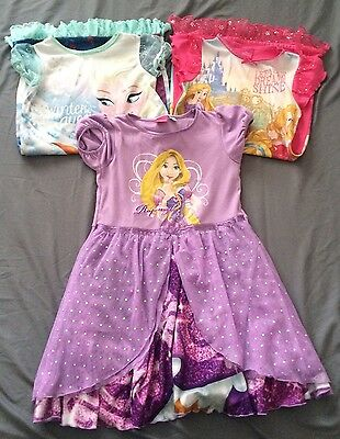 3 x Disney Princess Nightdresses (age 6-7)