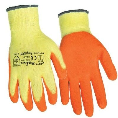Orange Latex Coated Original Builders Gloves Safe Grip Palm