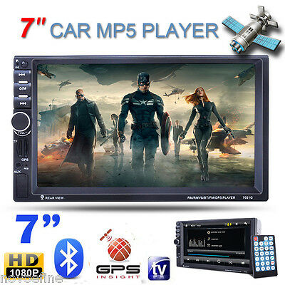 "7"" Universal HD 2DIN Coche MP5 Reproductor GPS Bluetooth FM AUX IN USB SD TF IR"