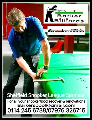 Snooker/English Pool/ American Pool Table Recover