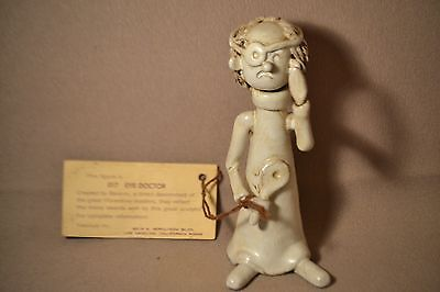 Bencini / Ceramic Figurine THE EYE DOCTOR Made in Italy / 5 Inches Tall w Tag