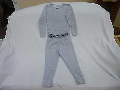 Children's Snow + Rock Base Layer Top and Bottoms Grey