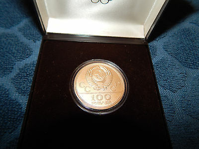 1978 Russia USSR Gold Coin 100 Rubles Olympics Moscow Lenin Stadium