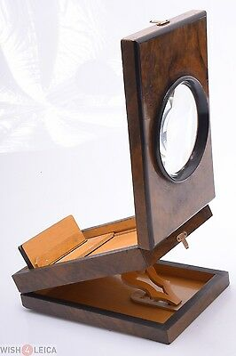 Nice*  France Antique Wood Graphoscope Table Top