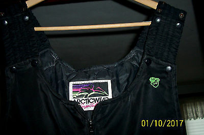 Vtg ARCTIC CAT Snowmobile Suit Snow Pants Bibs Only Mens XXXL Made in USA Nice!