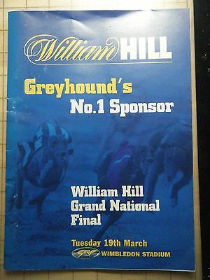 2002 Greyhound Grand National Final Racecard - Wimbledon