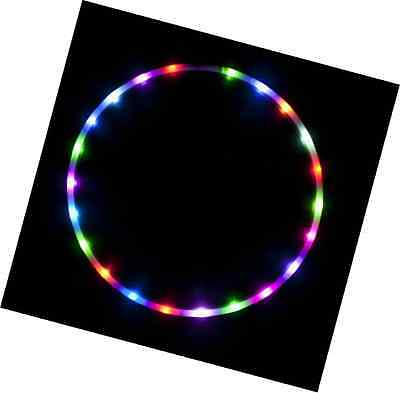 """36"""" - 24 Color Changing LED Hula Hoop - Cotton Candy Rainbow"""