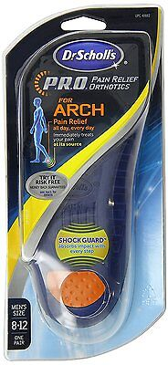 Dr. Scholls PRO For Arch Insoles - Pain Relief - Men's Size 8-12 - Free Shipping