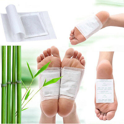 10PCS Herbal Detox Foot Pads Patch Detoxify Toxins Adhesive Keeping Fit Health