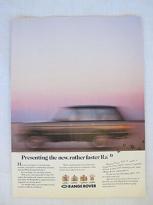 1989 Land Rover Range Rover Advertising Print Ad