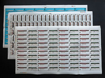 GB QE2 1969 British Ships  5d to 1/-  3  Sheets SG 309 to SG314