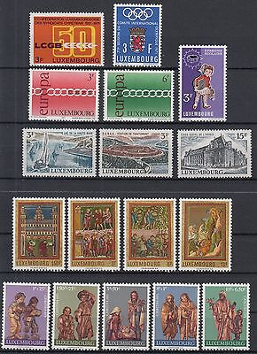 Luxembourg / Luxemburg 1971 ☀ set of commemorative stamps ☀ 17v MNH**
