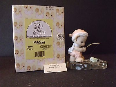 """Precious Moments """"wishing You A Yummy Christmas"""" - #455814 - New In Box"""