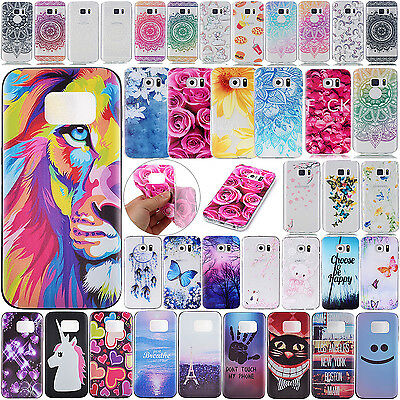 For Samsung S8/S7 TPU Skin Soft Ultra Slim Patterned Silicone Rubber Case Cover