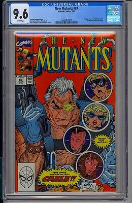 NEW MUTANTS #87  CGC 9.6  White Pages  Marvel Comics 3/90 1st appearance Cable!!
