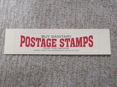 Schermack Postage Stamp Machine Replacement Window Display Card Reproduction #3
