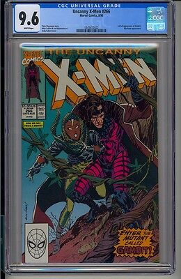 UNCANNY X-MEN #266  CGC 9.6  White Pages  Marvel Comics 8/90 1st app. Gambit
