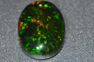 Gorgeous 0.84ct Natural Untreated Pin Point Black Opal w/ Great Color Play!!!
