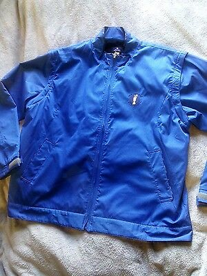 Mens The Open Collection Mizuno 2010. Blue sports jacket. Size Large. New