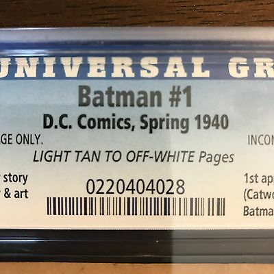 BATMAN #1 1st Appearance The Joker And Catwoman 28th PAGE ONLY CGC 1940 Bob Kane