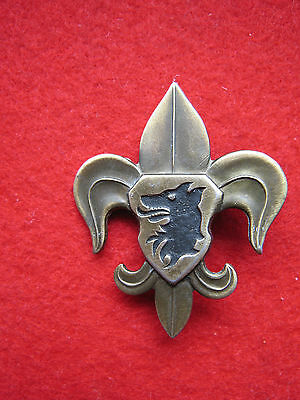boy scout promise badge  Czechoslovakia   metall, numbered