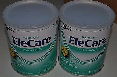 2 cans 14.1oz EleCare Infant Green Can Powder Formula FREE PRIORITY SHIP AAUq