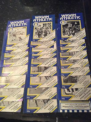 26 X Wigan Athletic Homes From 1979 And 1980