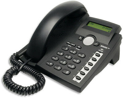 Snom 300 Voice over IP Corded (VoIP) Phone Ethernet PoE. Factory reset!