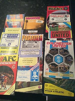 18 X Wigan Athletic Aways From 1980 To 1982