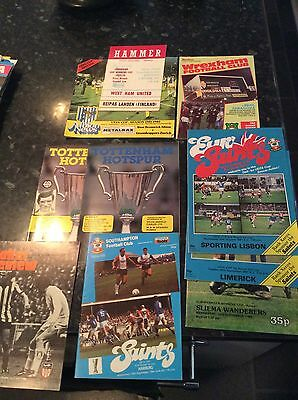 10 X English V Foreign Games From 1973 To 1986, Tottenham. Southampton, Wba Etc
