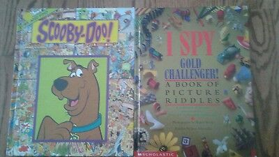 I Spy Gold Challenger & Look & Find Scooby- Doo Hardcover Books Nice