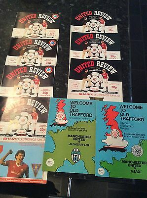 9 X English V Foreign Games From 1976 To 1985, Manchester United With Tokens