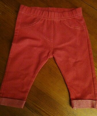 Baby Girl Pink Jeggings 0 - 3 months