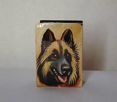 Mini box. High quality. Hand-painted Belgian Sheepdog
