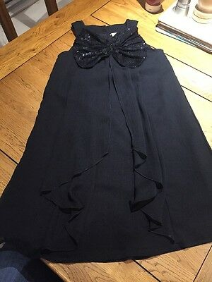 Girls Black Next Signature Floaty Dress/top 9 Years