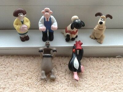 Vintage 1989 Wallace And Gromit Mini Figures Characters